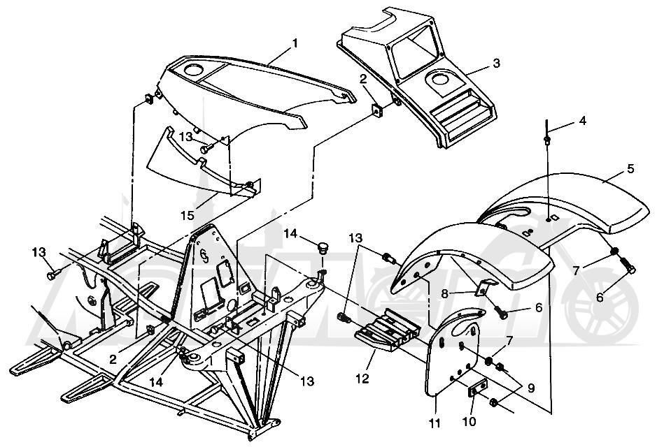 Запчасти для Квадроцикла Polaris 1996 SPORTSMAN 4X4 - W968040 Раздел: FRONT CAB SPORTSMAN 4X4 W968040 | перед кабина SPORTSMAN 4X4 W968040