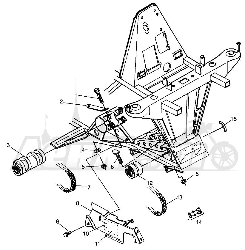 Запчасти для Квадроцикла Polaris 1996 SPORTSMAN 4X4 - W968040 Раздел: FRONT DRIVE SPORTSMAN 4X4 W968040 | перед привод SPORTSMAN 4X4 W968040