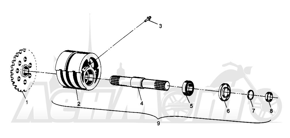 Запчасти для Квадроцикла Polaris 1996 SPORTSMAN 4X4 - W968040 Раздел: FRONT TIGHTENER SPORTSMAN 4X4 W968040 | перед натяжное устройство SPORTSMAN 4X4 W968040