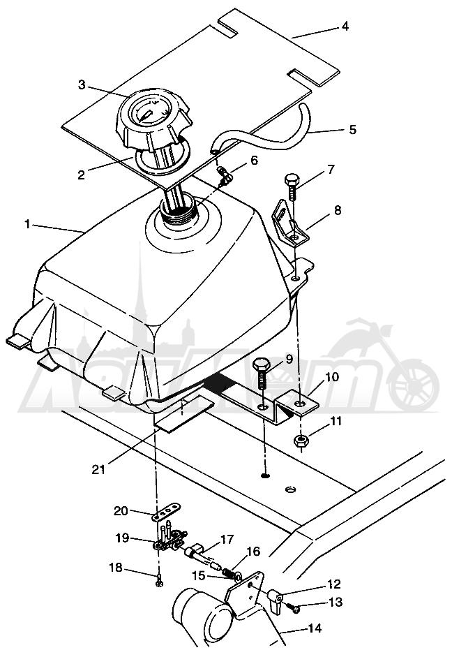 Запчасти для Квадроцикла Polaris 1996 SPORTSMAN 4X4 - W968040 Раздел: FUEL TANK SPORTSMAN 4X4 W968040 | топливный бак SPORTSMAN 4X4 W968040