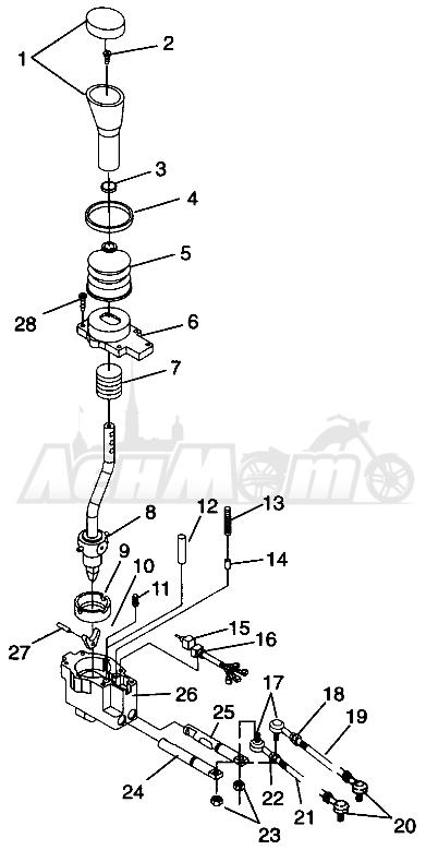 Запчасти для Квадроцикла Polaris 1996 SPORTSMAN 4X4 - W968040 Раздел: GEAR SELECTOR SPORTSMAN 4X4 W968040   переключатель передач SPORTSMAN 4X4 W968040