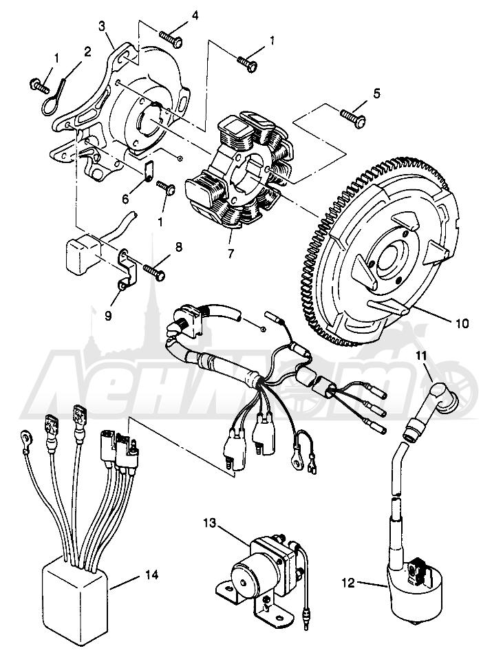 Запчасти для Квадроцикла Polaris 1996 SPORTSMAN 4X4 - W968040 Раздел: MAGNETO ASSEMBLY SPORTSMAN 4X4 W968040 | магнето в сборе SPORTSMAN 4X4 W968040