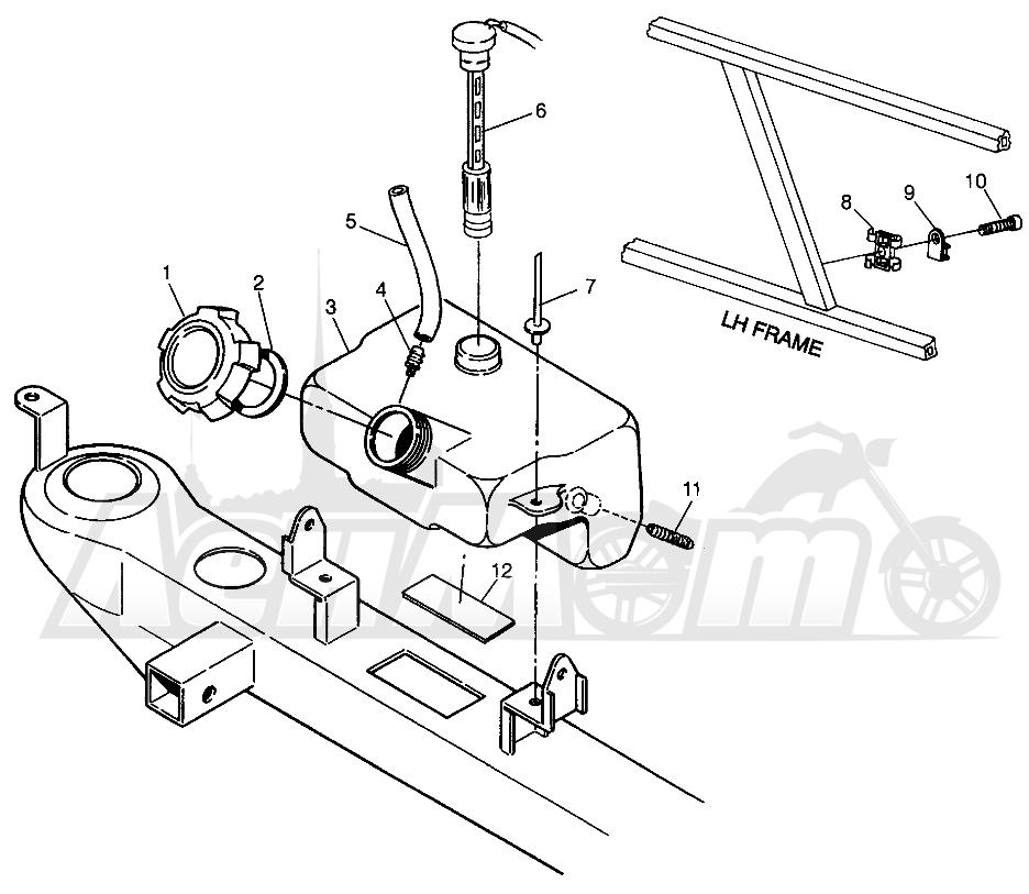 Запчасти для Квадроцикла Polaris 1996 SPORTSMAN 4X4 - W968040 Раздел: OIL TANK SPORTSMAN 4X4 W968040 | маслобак SPORTSMAN 4X4 W968040