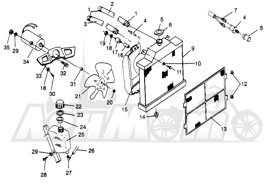 Запчасти для Квадроцикла Polaris 1996 SPORTSMAN 500 - W969244 Раздел: COOLING SYSTEM SPORTSMAN 500 W969244   система охлаждения SPORTSMAN 500 W969244
