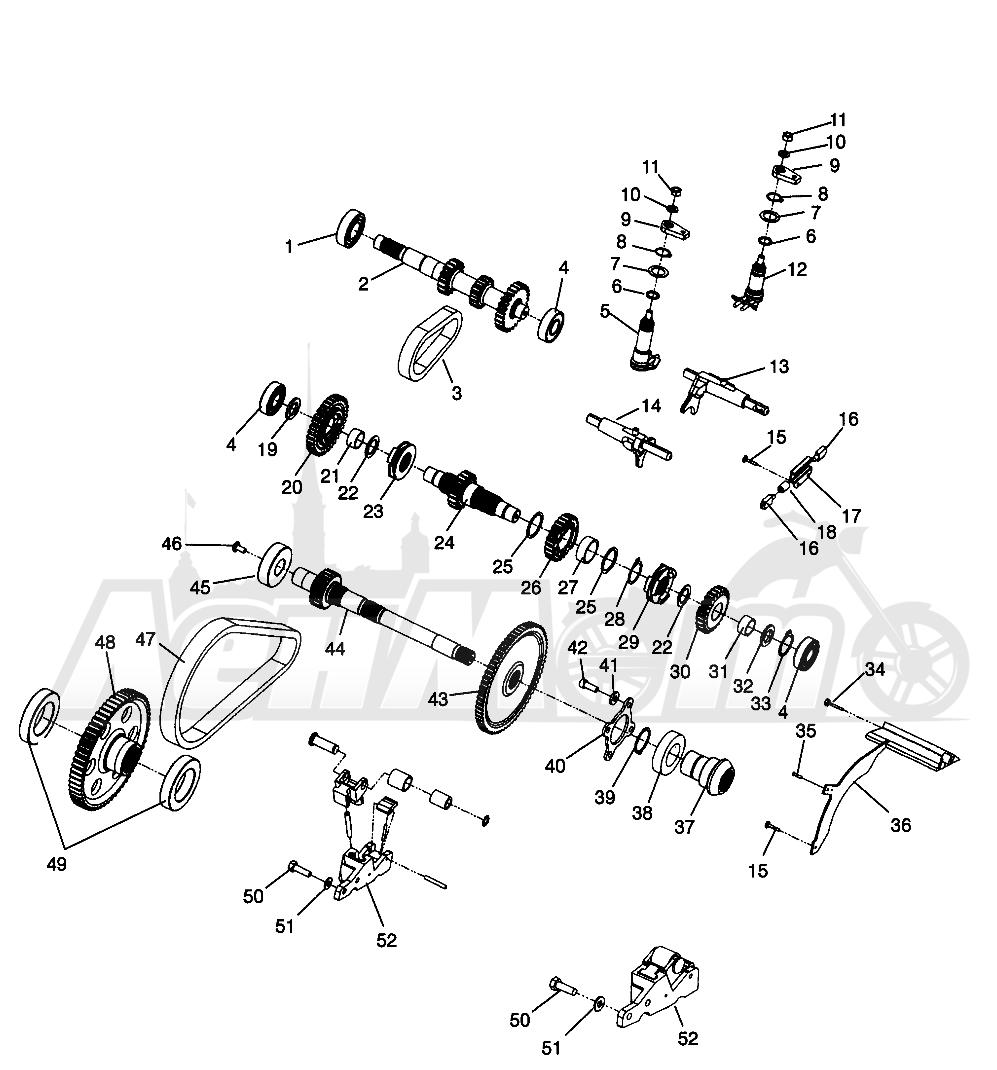 Запчасти для Квадроцикла Polaris 1996 SPORTSMAN 500 - W969244 Раздел: GEARCASE (INTERNAL COMPONENTS) SPORTSMAN 500 W969244 AND SWEDISH SPORTSMAN | коробка передач (INTERNAL компоненты) SPORTSMAN 500 W969244 и SWEDISH SPORTSMAN