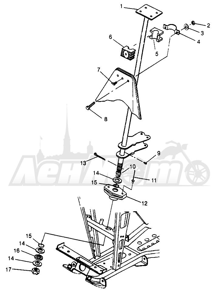 Запчасти для Квадроцикла Polaris 1996 SPORTSMAN 500 - W969244 Раздел: STEERING POST SPORTSMAN 500 W969244   рулевое управление стойка SPORTSMAN 500 W969244