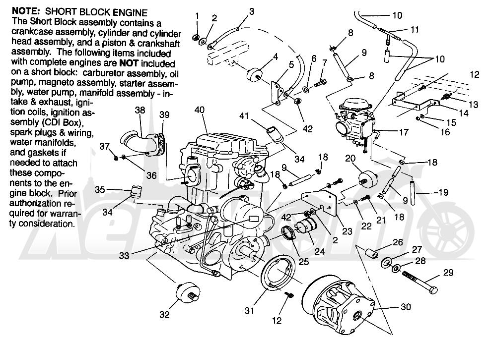Запчасти для Квадроцикла Polaris 1996 SWEDISH MAGNUM 4X4 - S968144 Раздел: ENGINE MOUNTING MAGNUM 4X4 W968144 AND SWEDISH MAGNUM 4X4 S968144   двигатель крепления MAGNUM 4X4 W968144 и SWEDISH MAGNUM 4X4 S968144