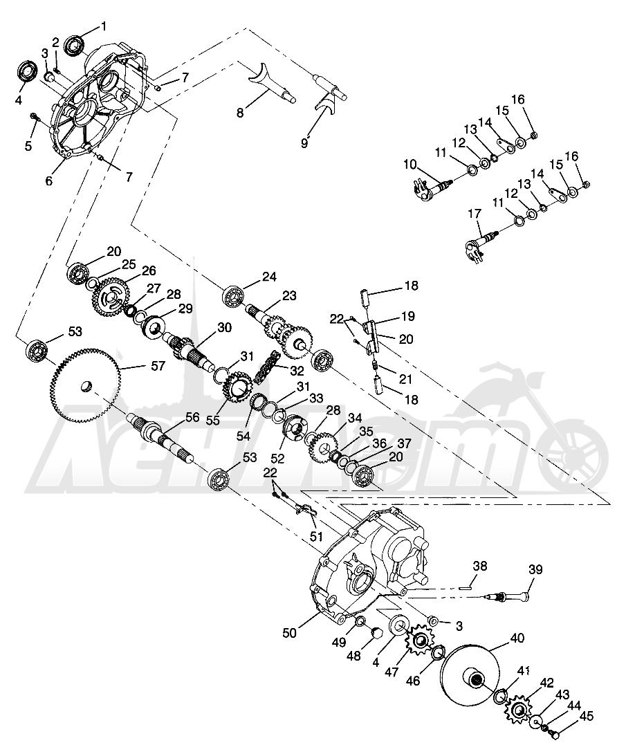 Запчасти для Квадроцикла Polaris 1996 SWEDISH MAGNUM 4X4 - S968144 Раздел: GEARCASE MAGNUM 4X4 W968144 AND SWEDISH MAGNUM 4X4 S968144 | коробка передач MAGNUM 4X4 W968144 и SWEDISH MAGNUM 4X4 S968144
