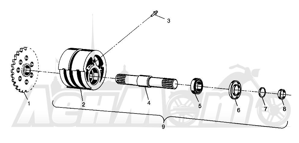 Запчасти для Квадроцикла Polaris 1996 SWEDISH MAGNUM 6X6 - S968744 Раздел: FRONT TIGHTENER MAGNUM 6X6 - W968744 AND MAGNUM 6X6 SWEDISH - S968744 | перед натяжное устройство MAGNUM 6X6 W968744 и MAGNUM 6X6 SWEDISH S968744