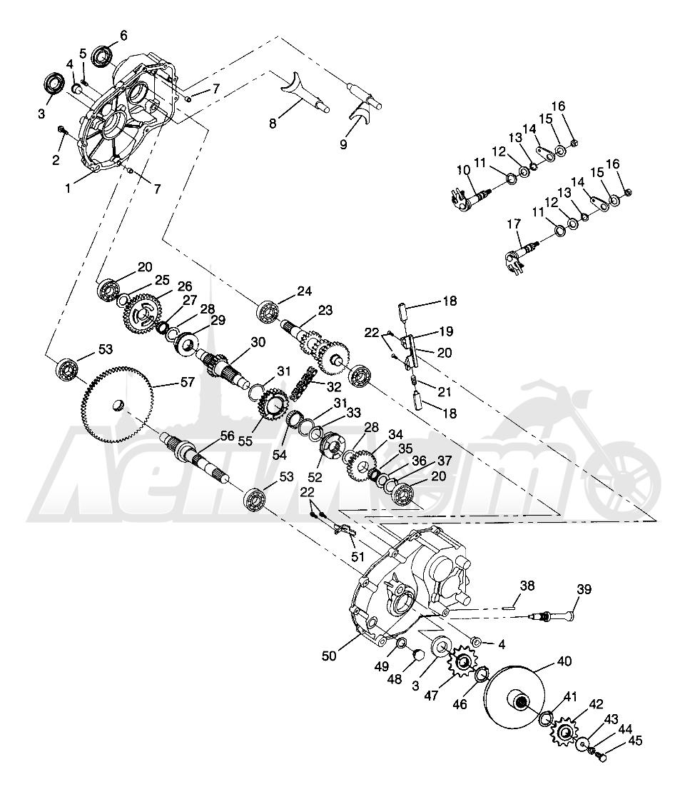 Запчасти для Квадроцикла Polaris 1996 SWEDISH MAGNUM 6X6 - S968744 Раздел: GEARCASE MAGNUM 6X6 W968744 AND MAGNUM 6X6 SWEDISH S968744 | коробка передач MAGNUM 6X6 W968744 и MAGNUM 6X6 SWEDISH S968744