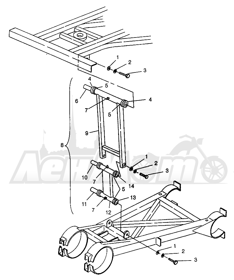 Запчасти для Квадроцикла Polaris 1996 SWEDISH MAGNUM 6X6 - S968744 Раздел: REAR STRUT STABILIZER MAGNUM 6X6 - W968744 AND MAGNUM 6X6 SWEDISH - S968744 | зад стойка стабилизатор MAGNUM 6X6 W968744 и MAGNUM 6X6 SWEDISH S968744