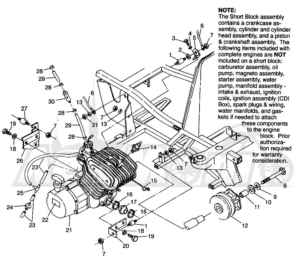 Запчасти для Квадроцикла Polaris 1996 TRAIL BOSS - W968527 Раздел: ENGINE MOUNTING TRAIL BOSS W968527 | двигатель крепления TRAIL BOSS W968527