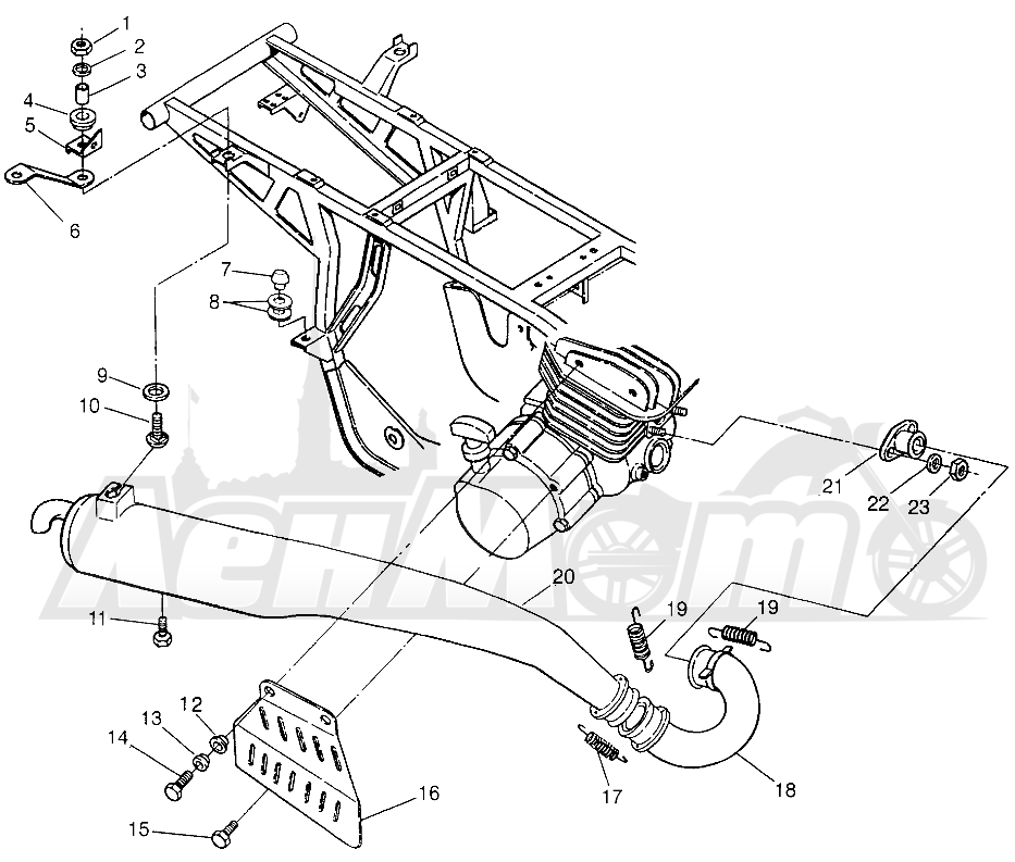 Запчасти для Квадроцикла Polaris 1996 TRAIL BOSS - W968527 Раздел: EXHAUST TRAIL BOSS W968527 | выпуск TRAIL BOSS W968527