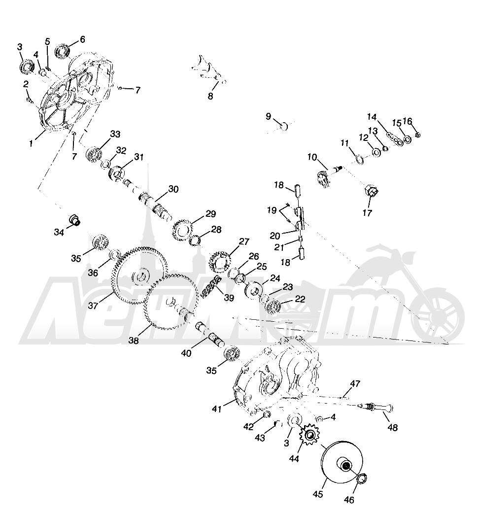 Запчасти для Квадроцикла Polaris 1996 TRAIL BOSS - W968527 Раздел: GEARCASE TRAIL BOSS W968527 | коробка передач TRAIL BOSS W968527