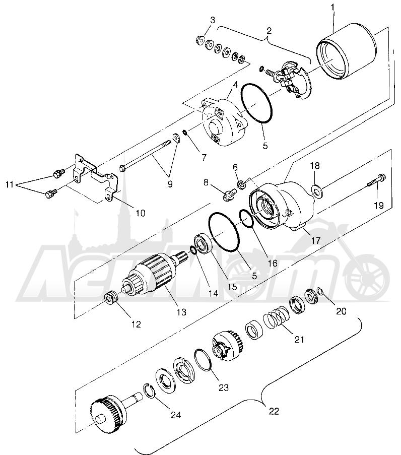 Запчасти для Квадроцикла Polaris 1996 TRAIL BOSS - W968527 Раздел: STARTING MOTOR TRAIL BOSS W968527 | электростартер TRAIL BOSS W968527