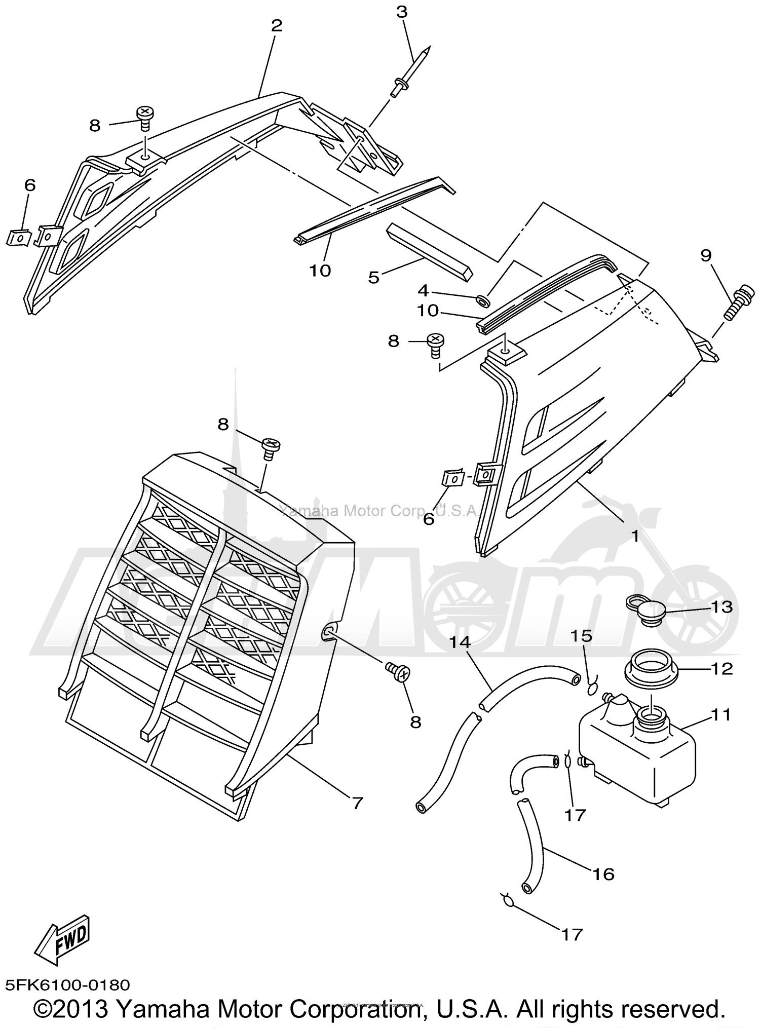 1998 Yamaha Yfz350 Atv Parts Manuals Catalog Download PDF