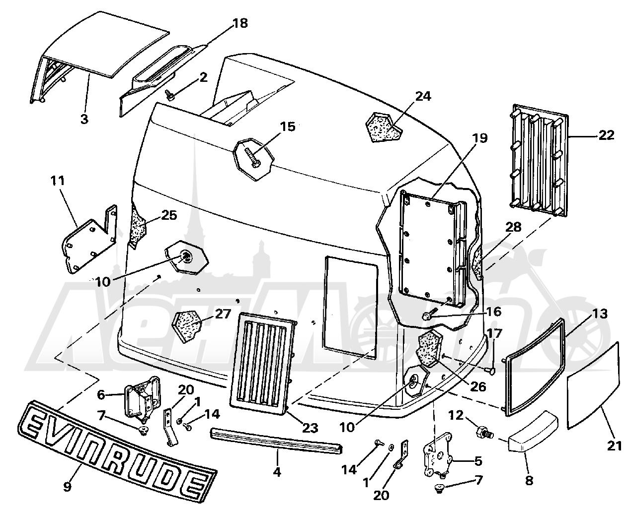 diagram of 1988 e200cxccr evinrude intake manifold diagram