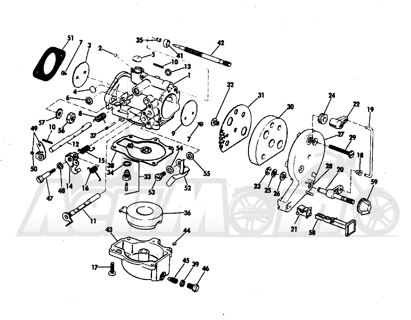 Карбюратор к лодочному мотору johnson
